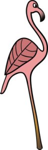 Flamingo Illustration from Mad Hatter's Ball