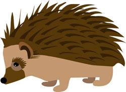 Hedge Hog Illustration for Mad Hatter's Ball, Gift of Life Gala. Designed by Michelle Walker Nault