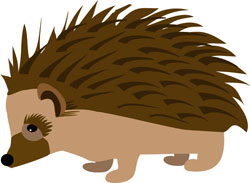 Hedge Hog Illustration for Mad Hatter's Ball, Gift of Life Gala. Designed by Michelle Walker Nault