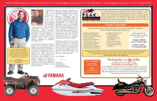 Yamaha Canada Corporate Informational Brochure