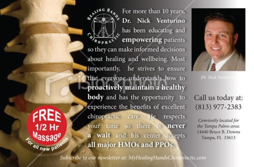 Mockup Concept for Dr. Nick Venturnio Ad