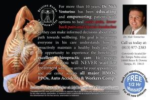 Dr. Nick Venturino, Tampa Florida. Palms Magazine