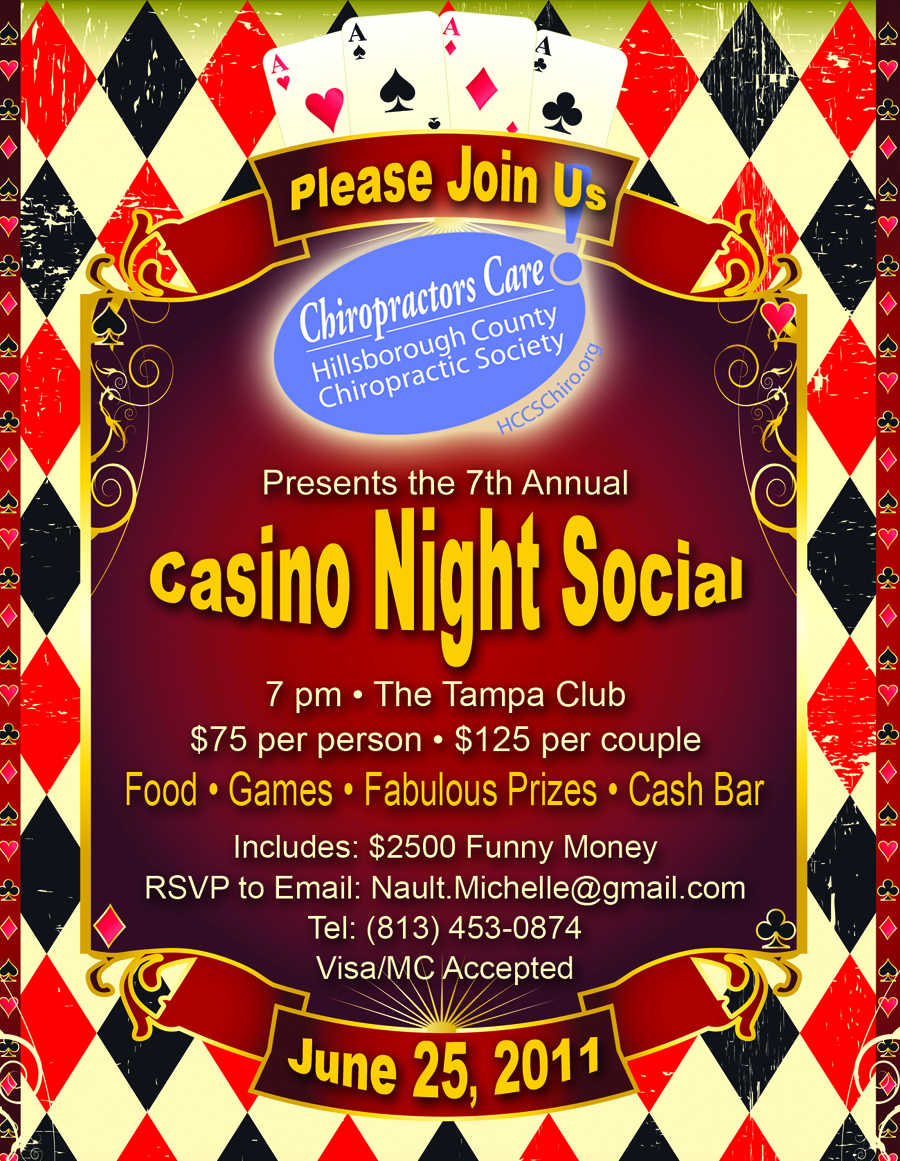 free casino themed invitations templates
