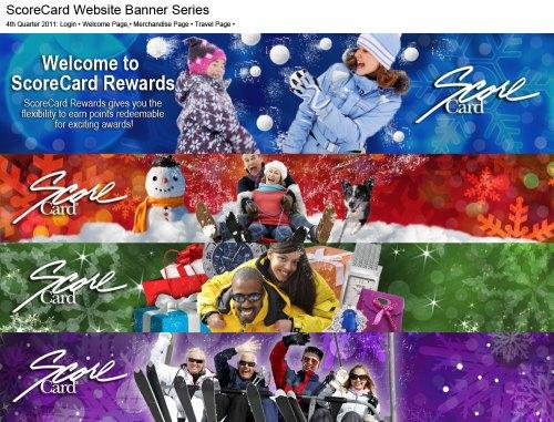 ScoreCardRewards.com Banner Graphics for 4th Quarter